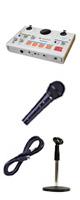 【お手軽放送セット】Tascam(タスカム ) / MiNiSTUDIO CREATOR US-42 USB Audio Interface - オーディオインターフェース - 【8月上旬発売】 ■限定セット内容■→ 【・ケーブル付きマイク ・マイクスタンド 】