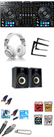 "Pioneer(パイオニア) / DDJ-RZ / Studio Scope 3  激安プロ向けセット(REKORDBOX DJ  無償)  ■限定セット内容■→ 【・PCスタンド ・金メッキ高級接続ケーブル 3M 1ペア ・ミックスCD作成KIT ・studio scope3 ・HD-1200 ・""世界NO.1""USBケーブル ・OAタップ ・教則DVD ・セッティングマニュアル ・DJ必需CD 計""5枚"" ・10分で理解DJ教則動画】"