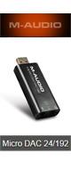 【10倍ポイント】M-Audio(エム・オーディオ) / Micro DAC 24/192 - 24bit/192kHzハイレゾ対応 USB DAC - ■限定セット内容■ 【・Apple対応イヤホンマイク 】