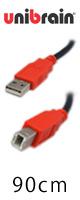 """Unibrain(ユニブレイン) / """"世界最上NO.1"""" USBケーブル [90cm] (typeA/B ver.2.0)"""