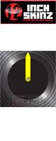 12inch SKINZ / Control Vinyl Labels (Black / Neon Yellow) (4枚1セット) 【コントロールレコード用ラベル】