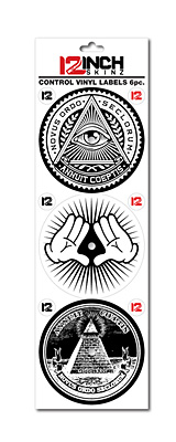 12inch SKINZ / Control Vinyl Labels (Illuminati デザイン2) (6枚1セット) 【コントロールレコード用ラベル】