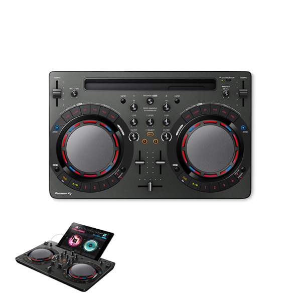 Pioneer(パイオニア) / DDJ-WeGO4-K (ブラック) 【rekordbox dj】iPad 「WeDJ」対応 ■限定セット内容■→ 【・金メッキ高級接続ケーブル 3M 1ペア ・教則DVD ・セッティングマニュアル ・10分で理解DJ教則動画】