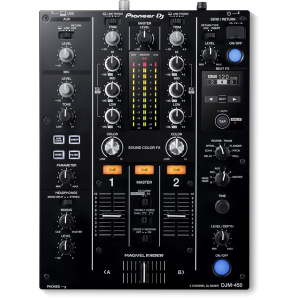 "Pioneer(パイオニア) / DJM-450 - DVS機能・エフェクト搭載 DJミキサー- ■限定セット内容■→ 【・金メッキ高級接続ケーブル 3M 1ペア ・ミックスCD作成KIT ・""世界NO.1""USBケーブル 】"