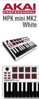 Akai(アカイ) /  MPK mini MK2 WHITE  【MPC Essentials付属】- ベロシティ対応25鍵MIDIキーボード・コントローラー  ■限定セット内容■→ 【・Apple対応イヤホンマイク 】