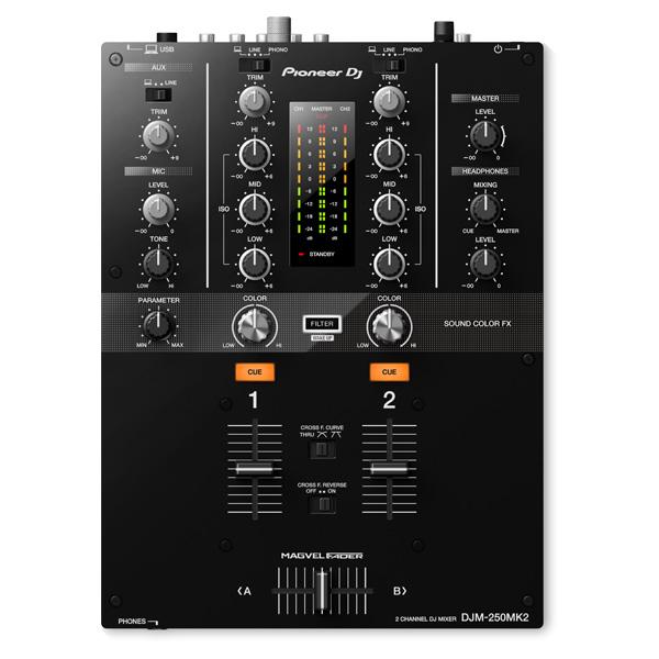 Pioneer(パイオニア) / DJM-250MK2 - DVS機能搭載 2ch DJミキサー- ■限定セット内容■→ 【・収納ケース ・OAタップ ・金メッキ高級接続ケーブル 3M 1ペア 】