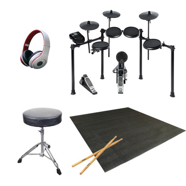 【初心者セットA】Alesis(アレシス) / NITRO KIT - 電子ドラム - ■限定セット内容■ 【・ドラムスローン ・ヘッドホン(OV-X8) ・ドラムスティック(ADW5A) ・ドラムマット ・教則動画】