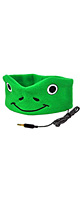 CozyPhones / フリース製ヘッドバンド (Green Froggy) - お子様向けヘッドホン -