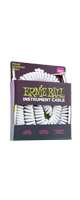 ERNIE BALL(アーニーボール)/6045 30' COILED STRAIGHT/ANGLE INSTRUMENT CABLE - WHITE/エレキギター用ケーブル
