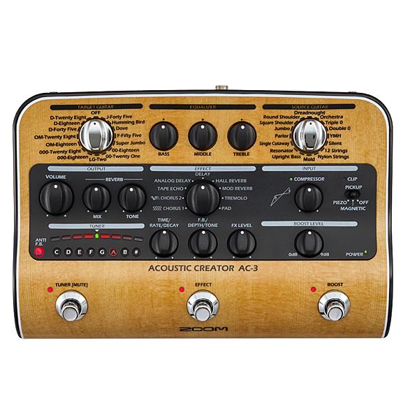 Zoom (ズーム) Acoustic Creator/AC-3  - プリアンプ-