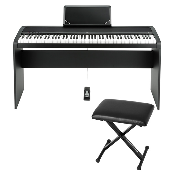 Korg(コルグ) / B1(ブラック) 【デジタルピアノ専用スタンド(STB1-BK) / 折り畳みイス(JS-SB100BK)セット】