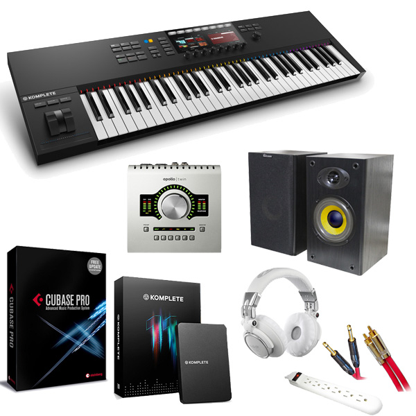 KOMPLETE KONTROL S61 MK2 / APOLLO TWIN DUO / Cubase Pro9&KOMPLETE 11 本格レコーディングセット 4大特典セット