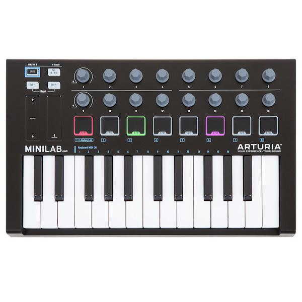 Arturia(アートリア) / MINILAB MKII Black Edition [数量限定モデル]- MIDIコントローラー - 【ソフトウェアが3つもバンドル】