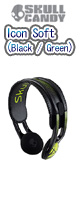Skullcandy(�X�J���L�����f�B) / Icon Soft (Black / Green)