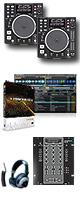 """DN-S1200 / SMX.311 / TRAKTOR PRO 2  ■限定セット内容■→ 【・DJ用カールコードヘッドホン ・教則DVD ・エレクトロハウス音ネタ ・セッティングマニュアル ・金メッキ高級接続ケーブル 3M 1ペア ・OAタップ ・ミックスCD作成KIT ・""""世界NO.1""""USBケーブル ・DJ必需CD 計""""5枚""""】"""
