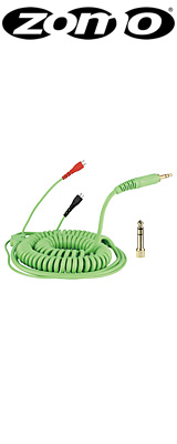 Zomo(ゾモ) / Spiral Cord DeLuxe for Sennheiser HD 25 3.5m (Mint / Green) - 交換用カールコード・ケーブル -