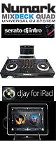 Numark(�̥ޡ���) /  MIXDECK QUAD ��Serato DJ Intro Ʊ���� ��˥С�����4�����ͥ�DJ SYSTEM����iPad/ iPhone �б� �ۡ������ꥻ�å����Ƣ������ڡ���§DVD�����ߥå���CD����KIT�������å������³�����֥� 3M 1�ڥ�����OV-X8 ��