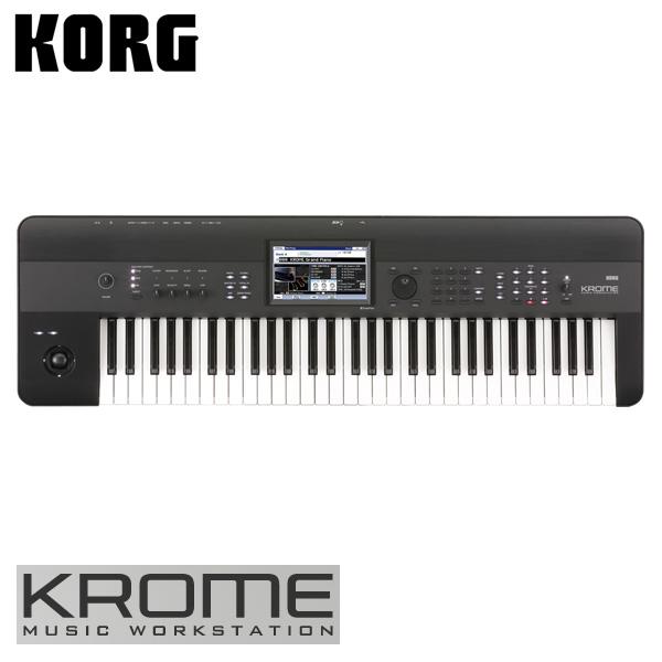 【限定1点】Korg(コルグ) / KROME-61 (61鍵盤) - ミュージック・ワークステーション・シンセサイザー 【アウトレット品/メーカー保証付】