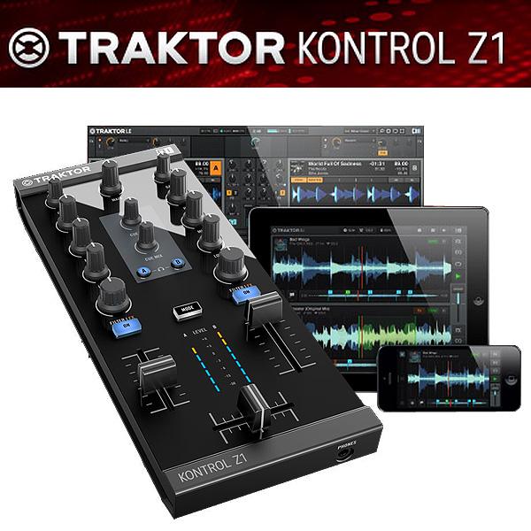 TRAKTOR KONTROL Z1 / Native Instruments(ネイティブインストゥルメンツ)  ミキシング・コントローラー ■限定セット内容■→ 【・金メッキ高級接続ケーブル 3M 1ペア ・TRAKTOR PRO2】