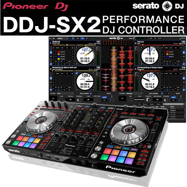 【限定1台】Pioneer(パイオニア) / DDJ-SX2 【Serato DJ 無償対応】 DVS対応4チャンネルリアルミキサー機能搭載『セール』