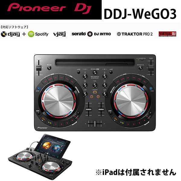 Pioneer(パイオニア) / DDJ-WeGO3-K (ブラック) 【Virtual DJ LE】iPhone/iPad 「djay2」対応