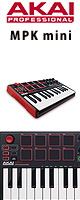 Akai(������) /  MPK mini MK2  ��MPC Essentials��°��- �٥?�ƥ��б�25��MIDI�����ܡ��ɡ�����ȥ?�顼 -�������ꥻ�å����Ƣ������ڡ�Apple�б�����ۥ�ޥ�������