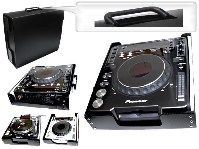 CDJケース 超軽量持ち運びケースの革命!- CDJ-1000/CDJ-900/CDJ-800/DJM-800/DN-S3700/DN-S3500 収納タイプ -