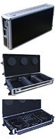 Euro Style(ユーロスタイル) / DJ coffin Case  flight case (フライトケース ) Black 【対応機種:Pioneer XDJ-1000 / CDJ-2000NXS / NXS2 / CDJ-900 / CDJ-850 / CDJ-800 / DENON SC3900 / DN-S3700 2台 & DJM-S9 / DJM-900NXS / NXS2 / DJM-850 / DJM-800 / DJM-750 / DJM-700 /  DJM-400 / Native Instruments Traktor Kontrol Z2 / Rane TTM 57SL / Sixty-One / Sixty-Two / Sixty-Four / Sixty-Eight / Vestax / 05pro3 / 05pro4 1台】 - DJセットケース -