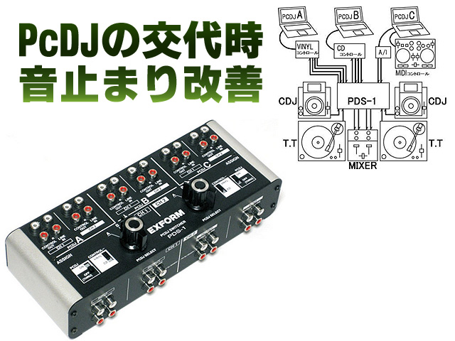 Exform(エクスフォルム) / PDS-1s - PCDJ SWITCHER -