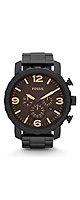 FOSSIL(�ե��å���) / Nate Chronograph Stainless Steel Watch - Black (Men's/JR1356)  - �ӻ��� -