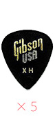 Gibson(ギブソン) / 1/2 Gross Standard Style / X-Heavy APRGG-74XH - ピック 5枚売り  -