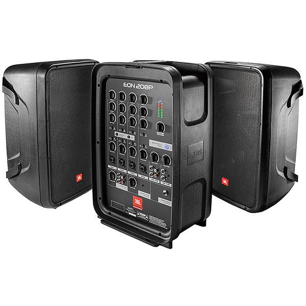 JBL(ジェービーエル) / EON208P - ポータブルPAシステム - 【Bluetooth対応/AKGのマイク付属】 ■限定セット内容■→ 【・スピーカースタンド2本組みESS-3302 】