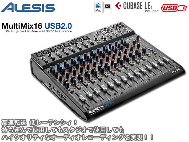 Alesis(���쥷��) / MultiMix 16 USB 2.0 [�ϥ�������ƥ��ʥ����ǥ����쥳���ǥ���¸�]