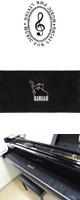NAKANO(ナカノ) / ピアノキーカバー/ネコとピアノ/ブラック 【CO120KNPBL】 - 88鍵用鍵盤カバー -