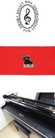 NAKANO(ナカノ) / ピアノキーカバー/ネコとピアノ/レッド 【CO120KNPRE】 - 88鍵用鍵盤カバー -