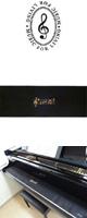 NAKANO(ナカノ) / ピアノキーカバー/音符/ブラック 【CO120KOPBL】 - 88鍵用鍵盤カバー -