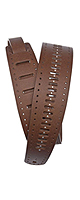 PLANET WAVES(�ץ�ͥåȥ������֥� ) / Vented Leather Strap Collection 25PRF07 STUDS, BROWN - ���������ȥ�å� -�ڹ��������ʡ�