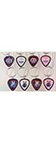 PickWorld / PWPH9 Pick Lace Vサイン 白-ネックレス型ピックホルダー -