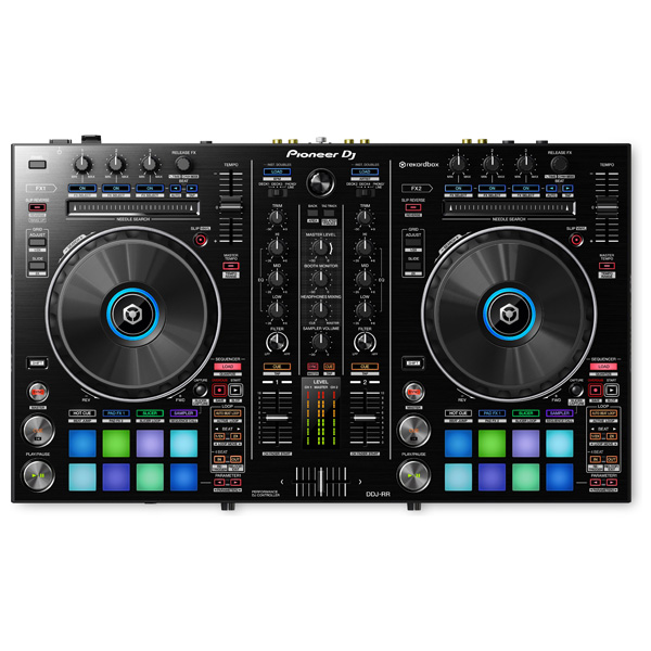 Pioneer(パイオニア) /  DDJ-RR 【REKORDBOX DJ 無償】- PCDJコントローラー - ■限定セット内容■→ 【・金メッキ高級接続ケーブル 3M 1ペア ・教則DVD ・ヘッドホン(OV-X8) ・ミックスCD作成KIT ・10分で理解DJ教則動画】