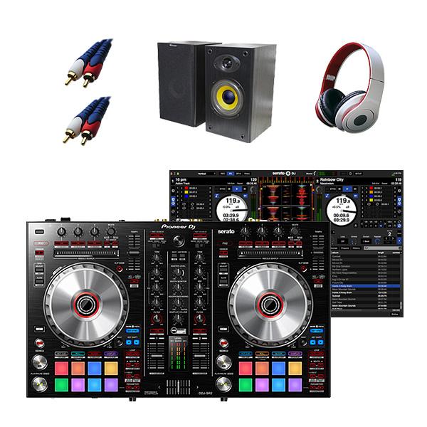 Pioneer(パイオニア) / DDJ-SR2  激安定番Bセット ■限定セット内容■ 【・金メッキ高級接続ケーブル 3M 1ペア ・MS-210J ・OV-X8 ・10分で理解DJ教則動画】