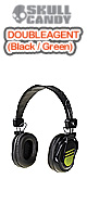 Skullcandy(�X�J���L�����f�B) / DOUBLE AGENT (Black / Green)