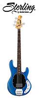 Sterling(スターリング) / by MUSIC MAN Ray4 Trans Blue Satin - エレキベース  - ■限定セット内容■→ 【・ESP ギターシールド 3M 】