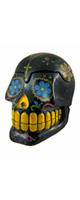 Things2Die4 /  Glossy Black Day Of The Dead 3D Skull Trinket Box 2167 - �ɥ��?�� -
