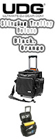 UDG / Ultimate SlingBag Trolley DeLuxe Black, Orange Inside U9981BL/OR - レコードバッグ -