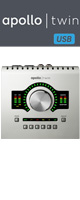 APOLLO TWIN USB / Universal Audio(ユニバーサルオーディオ) - USB3.0接続オーディオ・インターフェース -【台数限定価格】 ■限定セット内容■→ 【・世界最上級ケーブル2m】