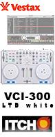 Vestax(ベスタックス) / VCI-300 LTD white ■限定セット内容■→ 【・教則DVD ・金メッキ高級接続ケーブル3M ・ミックスCD作成キット】