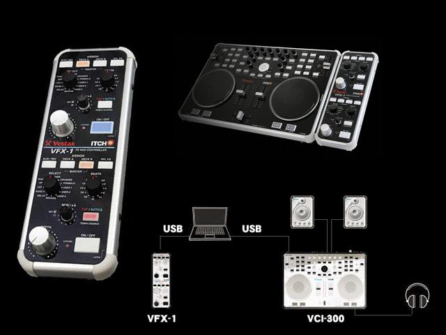 Vestax(ベスタックス) / VFX-1 [エフェクトコントローラー] FX MIDI CONTROLLER ■限定セット内容■→ 【・Scratch Live用ステッカー 】