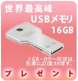 [P]LaCie 鍵型USB16GBプレゼント※Pioneer商品用