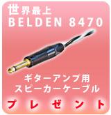 【P】アンプ用ケーブル Belden8470 プレゼント