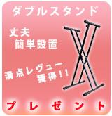 891. 【P】Ⅹ型ダブルスタンド プレゼント